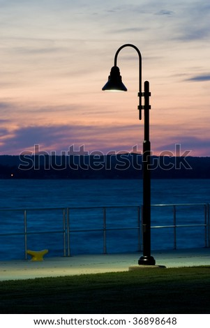 Lamp Post at Dusk