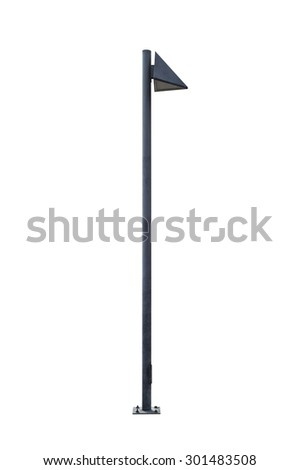 Lamp Post Street Road Light Pole isolated on white background - stock photo