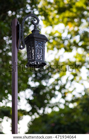 Lamp posts and bokeh