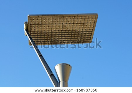 lamp powered with a solar panel