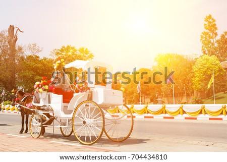 Lampang Horse Carriage Horse Car Symbol Stock Photo Royalty Free