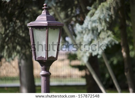 lamppost close up