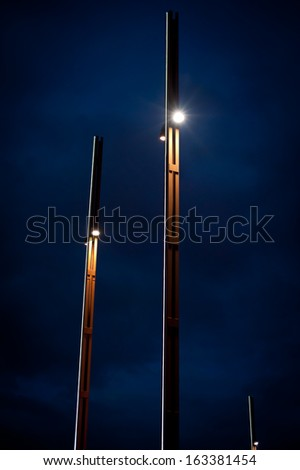 Lampposts outside the  titanic museum belfast northern ireland