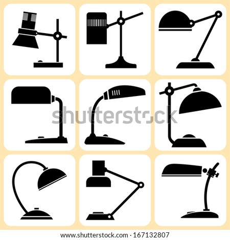 Lamps Icons Set