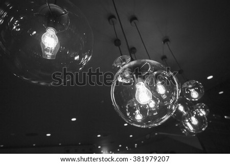 Lamps in living room