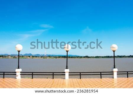 lamps in Mekong Riverside - stock photo