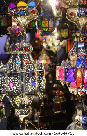 Lamps in the Marrakesh souks