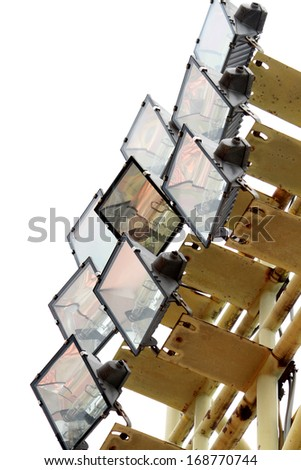 Lamps of stadium - stock photo