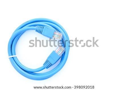 LAN blue on a white background. - stock photo