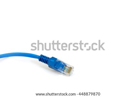lan cable and connector.