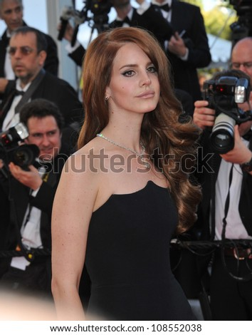Lana Del Rey at the premiere of Moonrise Kingdom - the gala opening of the 65th Festival de Cannes. May 16, 2012  Cannes, France Picture: Paul Smith / Featureflash - stock photo