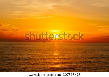 Lana Island Sunset in Thailand - stock photo