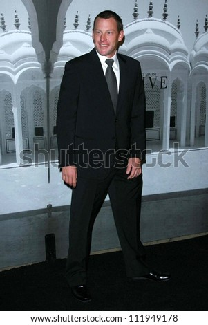 Lance Armstrong at the Giorgio Armani Prive Show to celebrate the Oscars. Green Acres, Los Angeles, CA. 02-24-07 - stock photo