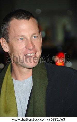 "LANCE ARMSTRONG at the Los Angeles premiere of ""We Are Marshall"" at Grauman's Chinese Theatre, Hollywood. December 14, 2006  Los Angeles, CA Picture: Paul Smith / Featureflash"
