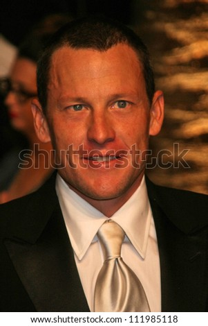 Lance Armstrong at the 2007 Vanity Fair Oscar Party. Mortons, West Hollywood, CA. 02-25-07 - stock photo