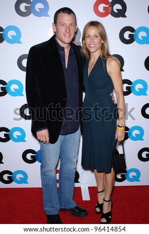 LANCE ARMSTRONG & SHERYL CROW at GQ Magazine's 2005 Men of the Year party in Beverly Hills. December 1, 2005  Beverly Hills, CA.  2005 Paul Smith / Featureflash - stock photo