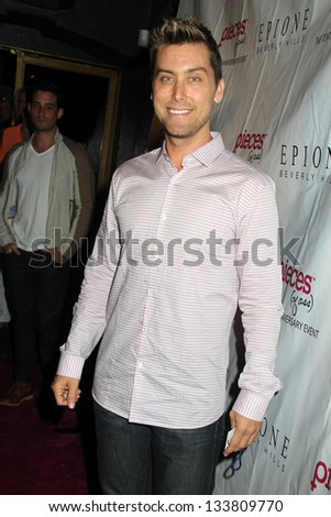 """Lance Bass at the """"Pieces(Of Ass)"""" Opening Night Los Angeles Performance, Fonda Theatre, Hollywood, CA 03-28-13 - stock photo"""