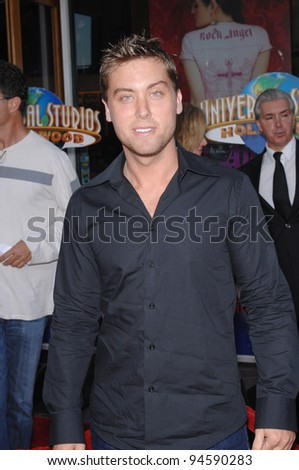 "Lance Bass at the world premiere of ""I Now Pronounce You Chuck and Larry"" at the Gibson Amphitheatre, Universal City. July 13, 2007  Los Angeles, CA Picture: Paul Smith / Featureflash"