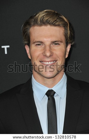 """Lance Broadway at the Los Angeles premiere of """"Olympus Has Fallen"""" at the Cinerama Dome, Hollywood. March 18, 2013  Los Angeles, CA Picture: Paul Smith - stock photo"""