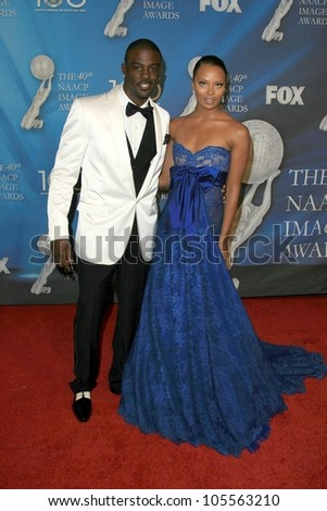 Lance Gross and Eva Marcille  at the 40th NAACP Image Awards. Shrine Auditorium, Los Angeles, CA. 02-12-09 - stock photo