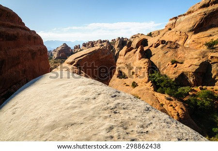 Land Bridge at Arches National Park - stock photo