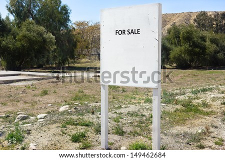 Land for sale in a rural area