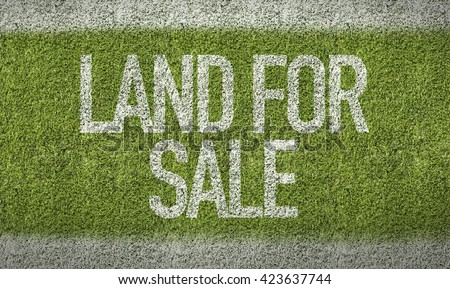 Land for Sale Sign - stock photo