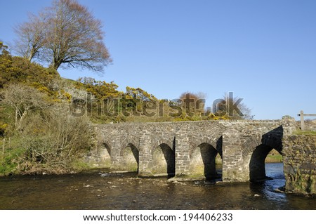 Landacre Bridge over River Barle near Withypool, Exmoor