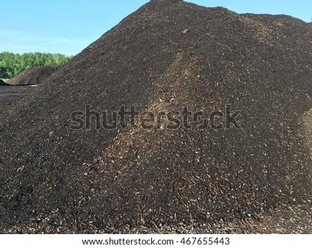 Landfill compost pile