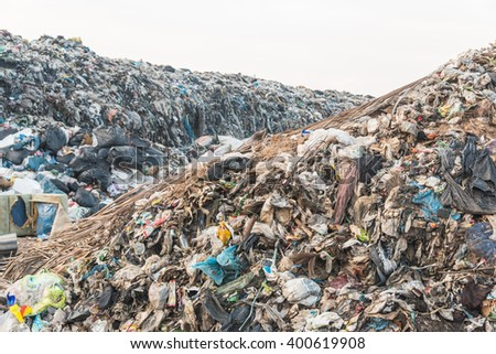 Landfill in city,Thailand
