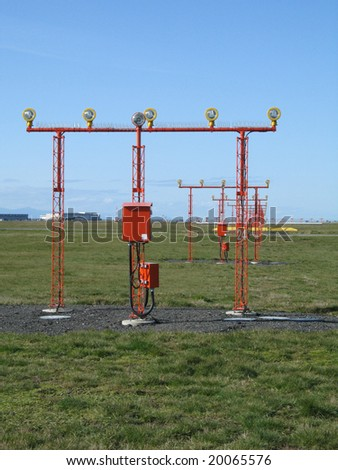 landing lights - stock photo
