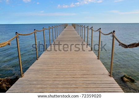 Landing stage on a summer day in tunisia - stock photo