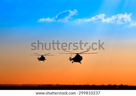 landing two helicopters