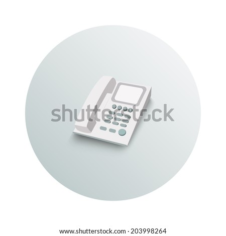 Landline phone business concept on white background. Office and business work elements. Raster version - stock photo
