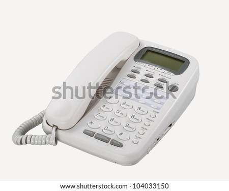 landline phone with clipping path