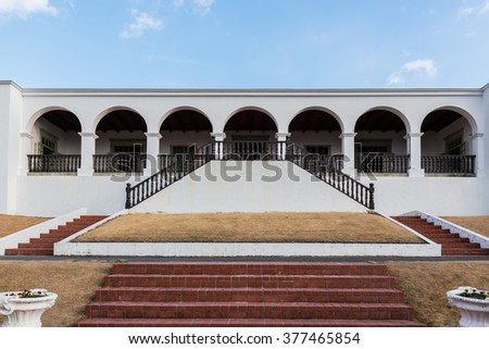 Landlord residency in peru, traditional formerly. - stock photo