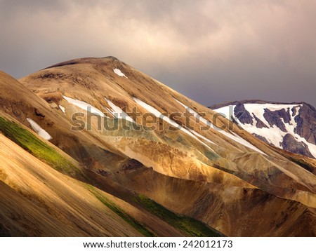 Landmannalaugar colorful mountains in Iceland