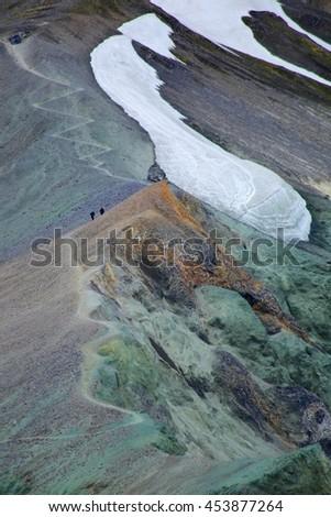 Landmannalaugar, Iceland hiking - stock photo