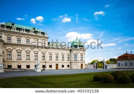landmark Belvedere is a historic building complex in Vienna Austria - stock photo