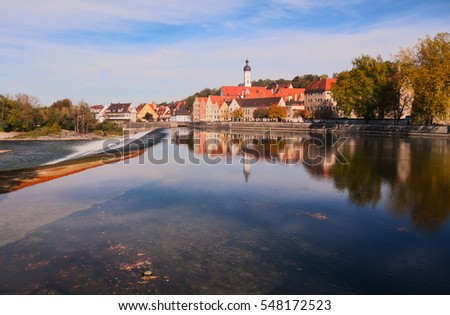 Landsberg am Lech, a beautiful town in Bavaria, Germany.