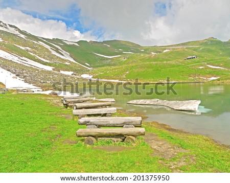 Landscape alongside the Grossglockner High Alpine Road.   - stock photo