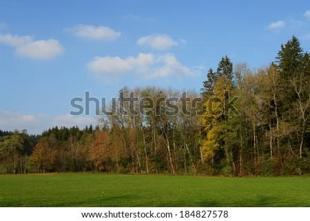landscape at a autumn mood - stock photo