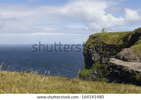 Landscape at the Cliffs of Moher in Ireland