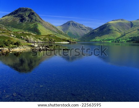 Landscape At Yewbarrow Wastwater The Lake District England