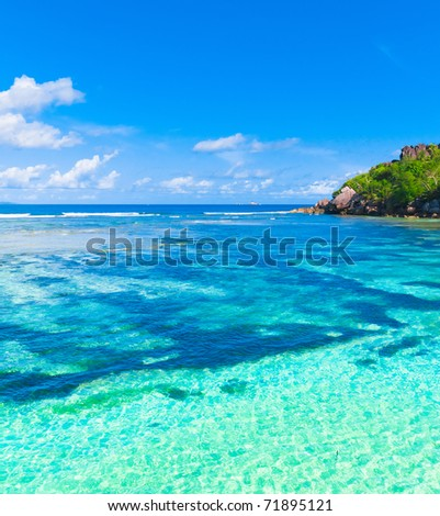 Landscape Bay Shore - stock photo