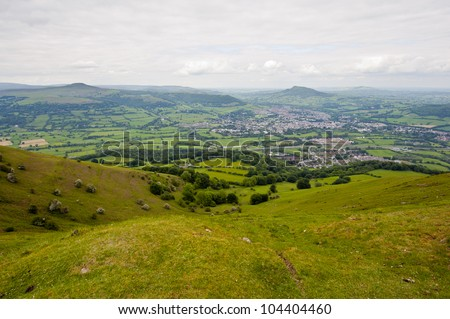 Landscape Brecon Beacons National park in Wales, UK - stock photo