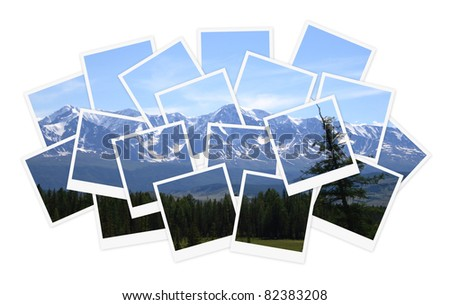 Landscape, collage of photos for your design - stock photo