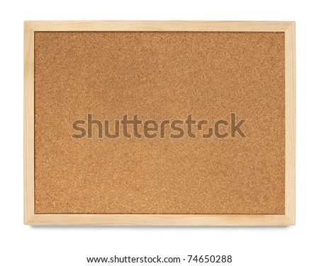 Landscape Cork Board, blank and isolated - stock photo