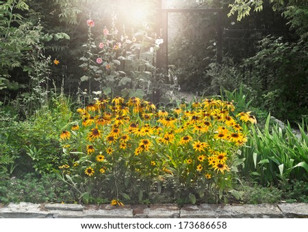 landscape design - stock photo