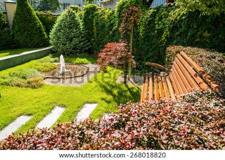 landscape design - stock photo